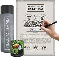 happylandgifts® Edition 2020-1m² echter Regenwald in Costa-Rica als nachhaltiges Geschenk I Besitzurkunde mit Wunschname...