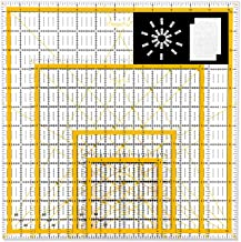 "Magicfly Acrylic Quilting Ruler (4.5""x4.5"", 6""x6"", 9.5""x9.5"", 12.5""x12.5"") Set of 4 Transparent Quilter Square Ruler with ..."