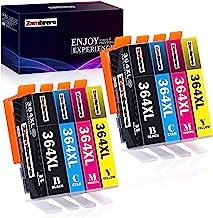 Zambrero 364XL Reemplazo para HP 364 XL Cartuchos de tinta Compatibles con HP Photosmart 5520 5510 6520 7520 5522 6510 7510, HP Officejet 4620, HP Deskjet 3520 3070A (8 Pack)