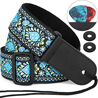 Guitar Strap, Anwenk Electric Guitar Strap Acoustic Strap Bass Strap 2