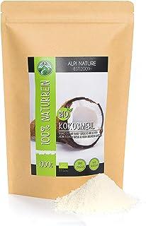 Harina de coco orgánica (1kg), ecológica, bio, calidad de alimentos crudos de cultivo orgánico controlado, sin gluten, sin...