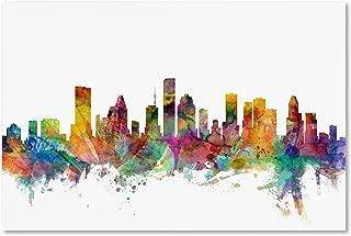 Houston Texas Skyline by Michael Tompsett, 30x47-Inch Canvas Wall Art