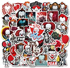 Terror Movie Laptop Stickers 50Pcs Pack, Cool Teen Water Bottle Travel Case Computer Wall..