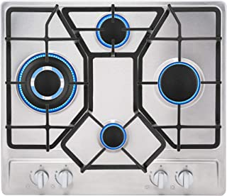 "Empava 24"" Stainless 4 Italy Sabaf Burners Stove Top Gas Cooktop EMPV-24GC4B67A"