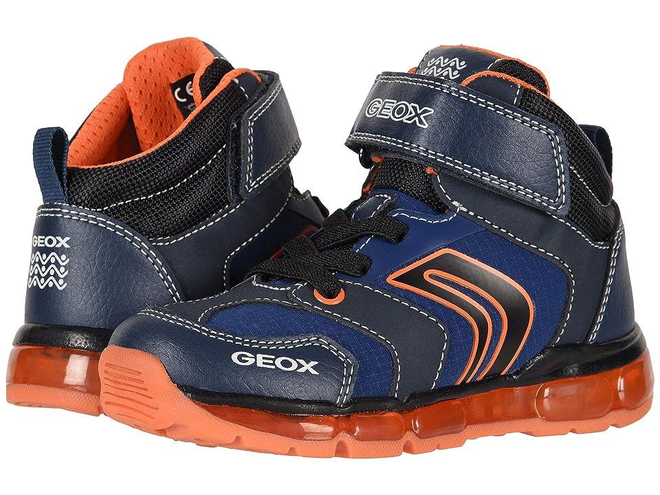 Geox Kids Android Boy 18 (Toddler/Little Kid) (Navy/Orange) Boy