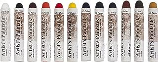 Jack Richeson 121502 Shiva Oil Paintstik, Professional Colors, Set of 12
