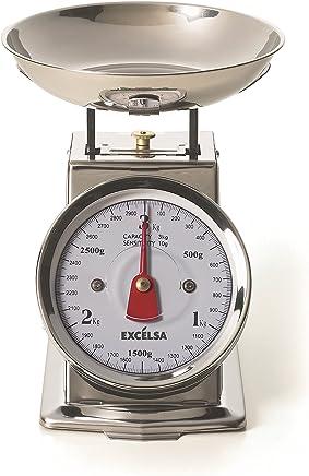 (Natural) - Excelsa Vintage INOX Kitchen Scales 3 Kg./10 Gr.
