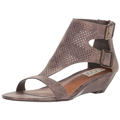 Sugar Womens Wigout Demi Wedge T-bar Open Toe Buckle Sandal