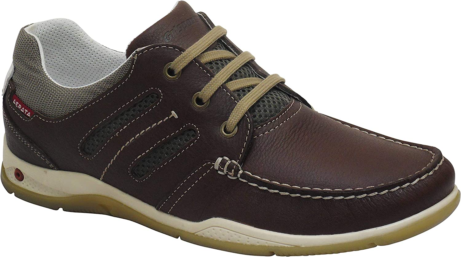 Aerata Magellan by greyport Quality Lightweight Leather Deck shoes Brown