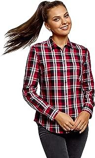 oodji Ultra Women's Basic Checkered Shirt