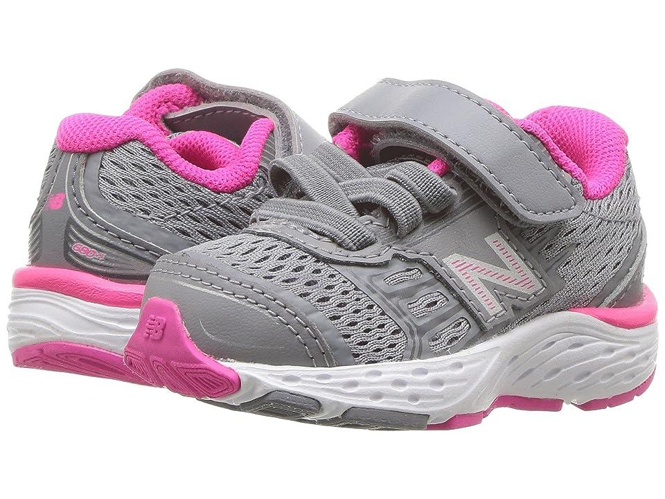 New Balance Kids KA680v5I (Infant/Toddler) (Steel/Pink Glo) Girls Shoes