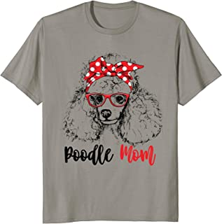 Red Poodle Mom T-Shirt Gift For Women