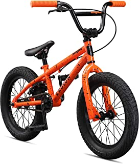 Mongoose Legion Sidewalk Freestyle BMX Bike for Kids, Children and Beginner-Level Riders, Featuring Hi-Ten Steel Frame, Micro Drive 25x9T or 36x16T BMX Gearing, and 16-18-20-Inch Wheels (Renewed)