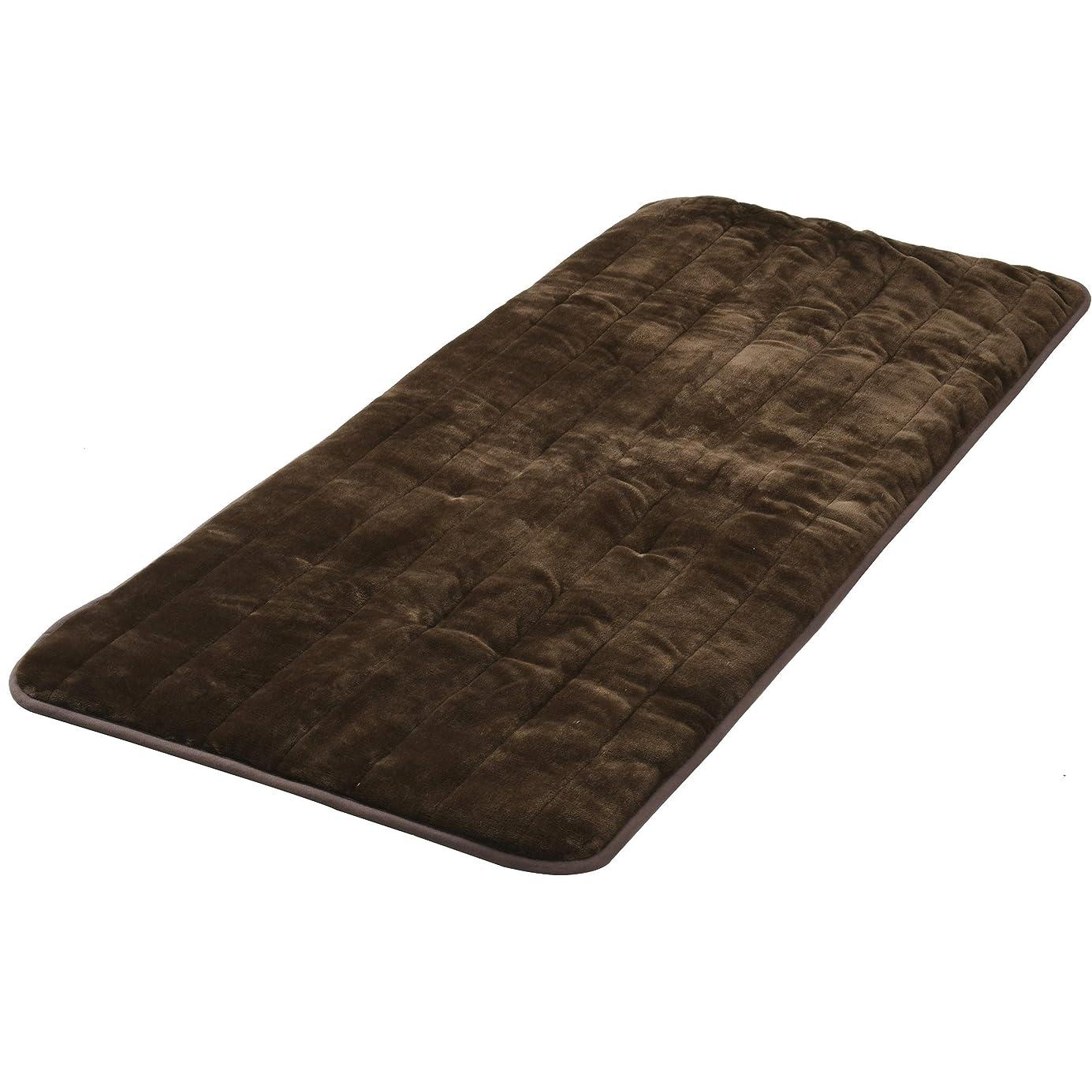 改修曲げる欠伸山善 洗えるどこでもカーペット(180×80cm) フランネル仕上げ 室温センサー付 ブラウン YWC-182F(T)