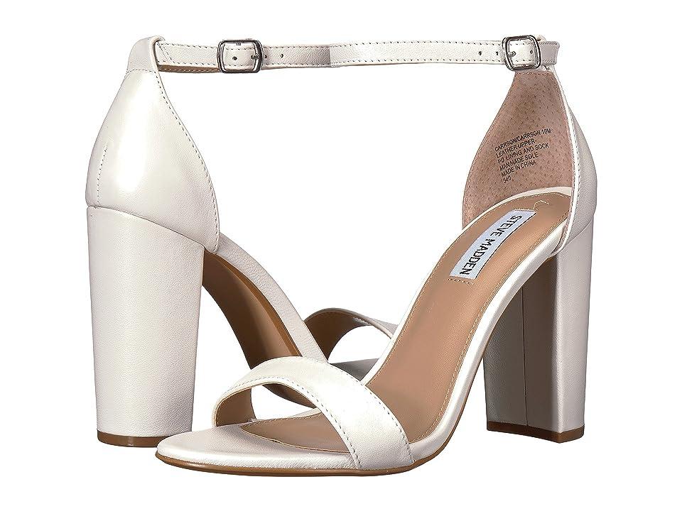 Steve Madden Carrson Heeled Sandal (White Leather) High Heels