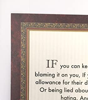 Desiderata Gallery Brand, If Poem by Rudyard Kipling in 1895. (Author of The Jungle Book) Border Trim Design 11x14 in.