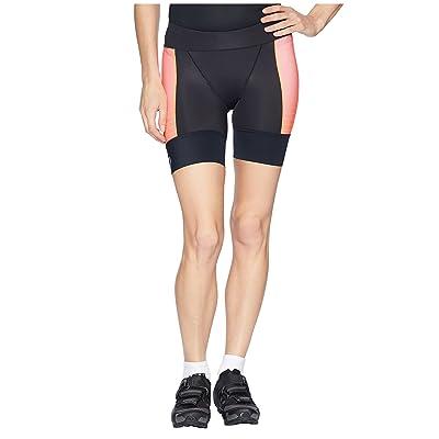 Pearl Izumi Elite Pursuit Tri Half Shorts (Black/Orange Pop Diffuse) Women