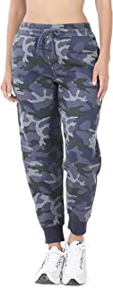 Nolabel Women's Activewear Slim Fit French Terry Drawstring Jogger Pants Sweatpants with Pockets (S~3X Plus Size)