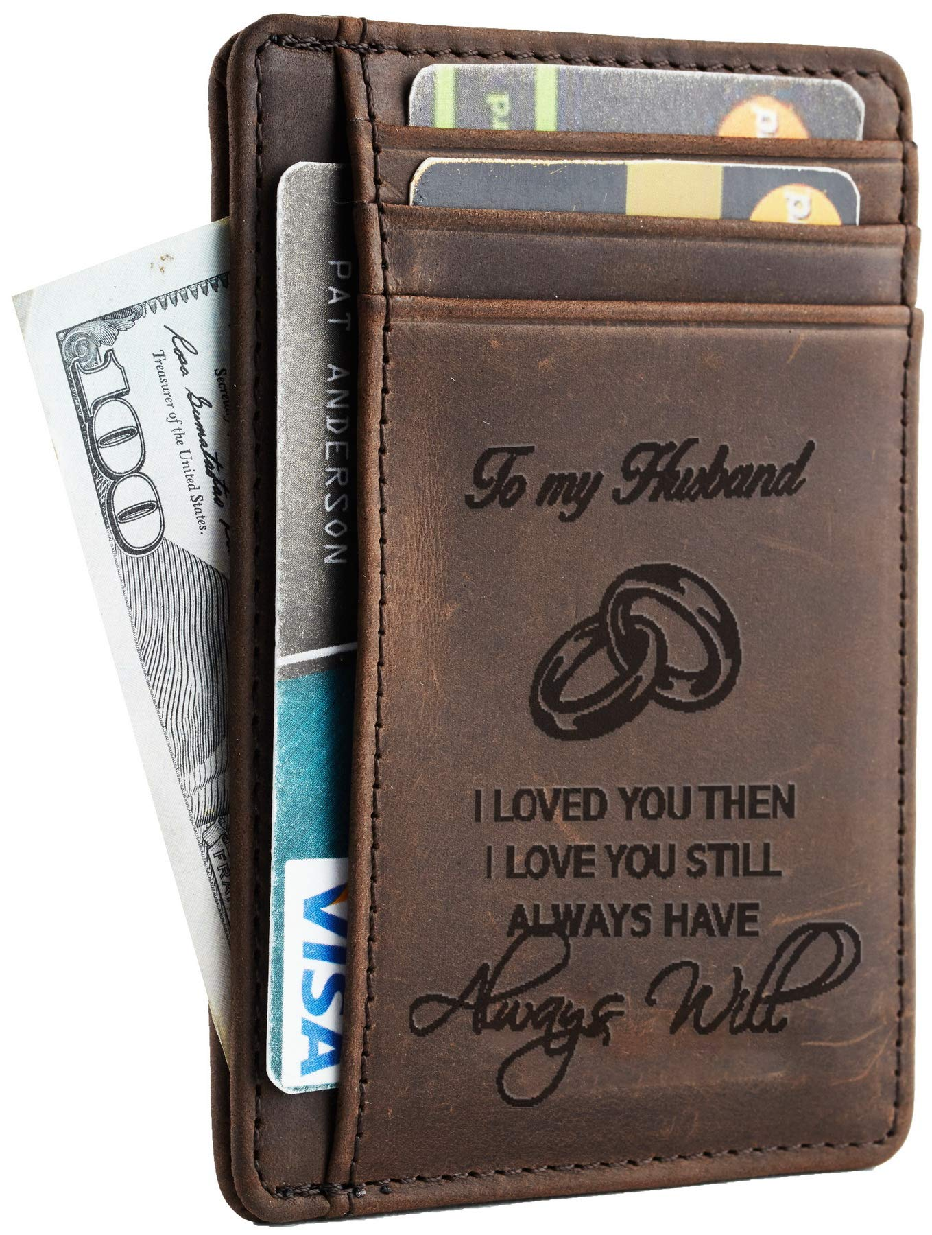 NapaWalli Wife To Husband Father Mother to Son Gift Best Anniversary Christmas Birthday Gifts Slim Wallet  sc 1 st  Amazon.com & Anniversary Gift For Him: Amazon.com