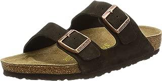 birkenstock arizona amalfi leather sandal with soft footbed