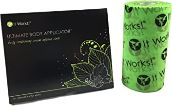 It Works! Ultimate Body Wrap Applicators (4 Count) with Fab Wrap Roll (82ft) Bundle