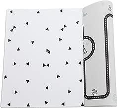 tapete de juego suave para beb/és 2m x 1.4m Ofie Mat de Little Bot reversible y no t/óxico zen line+triangle, Large
