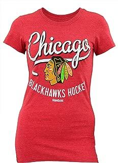 NHL Women's Chicago Blackhawks Team Skate Cap Sleeve Tee