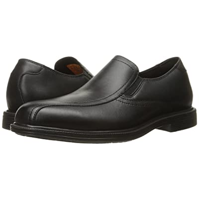 SKECHERS Work Gretna (Black Leather) Men