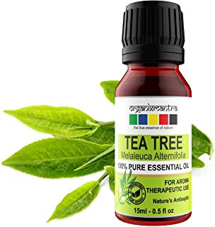 Organix Mantra Tea Tree Essential Oils for Skin, Hair, Face, Acne Care, 100% Pure, Natural and Undiluted Therapeutic Grade...