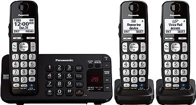 Panasonic KX-TGE243B DECT 6.0 Expandable Digital Cordless Answering System, 3 Handsets