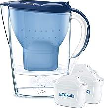 BRITA Marella water filter jug starter pack,  includes 3 MAXTRA+ , Blue -Fridge fit
