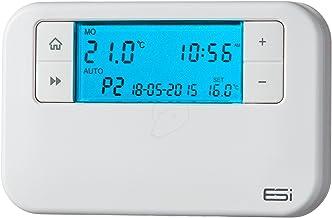 ESI - Energy Saving Innovation Controls ESRTP4 Termostato de habitación programable con cable, blanco