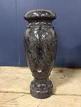 Bahama Blue Granite Monument Vase Headstone Gravestone Cemetery 10x4-G