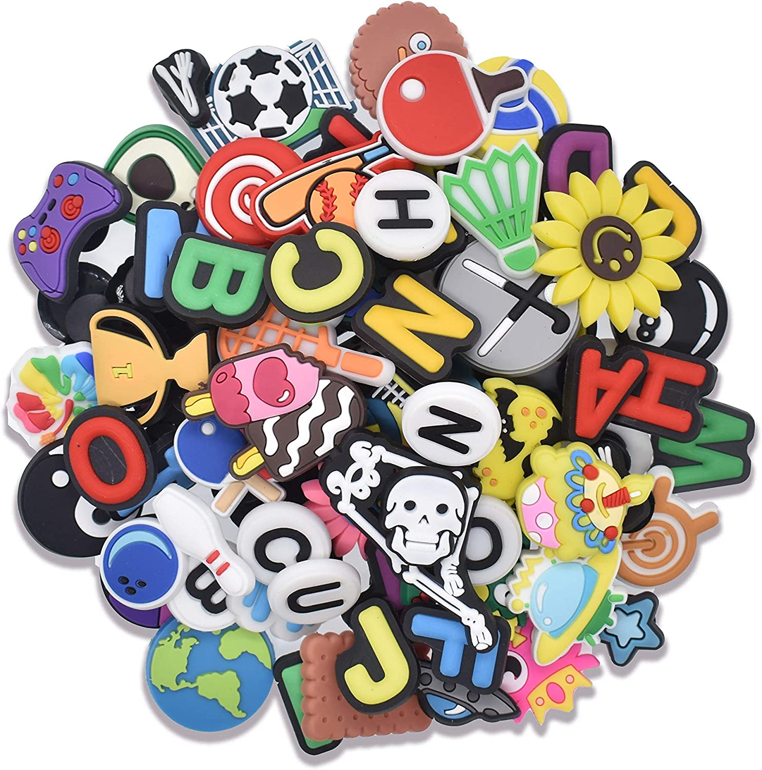 195,145,125,106,100,40 Cute Shoe Charms Shoe decoration for Bracelets Wristbands and Shoes Party Gifts