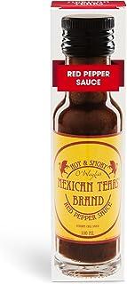 Mexican Tears - Red Pepper Sauce, scharfe Sauce aus Chili & Meersalz, perfekt als Grill-Zubehör für BBQ Sauce, Pulled Pork & zum Aufpeppen von Spareribs 100ml Chilisauce