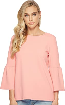 a2fc8f0a258f58 Kensie oxford shirting cold shoulder top ks5u4063