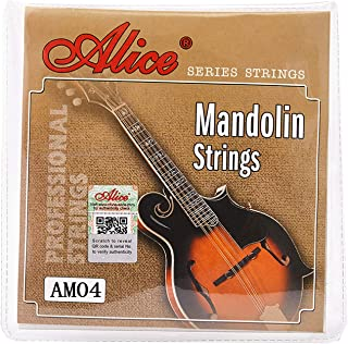 Alice Mandolin Strings .010-.034 Copper Alloy Winding with 80/20 Bronze Color Anti-rust Coating, 2 Sets