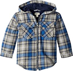 Blue Plaid Full Zip Hoodie (Toddler/Little Kids/Big Kids)