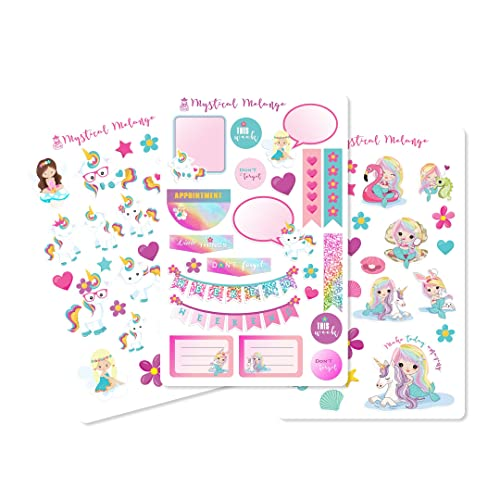 Glossy Paper Mermaid Deco Planner//Diary//Scrapbooking Stickers
