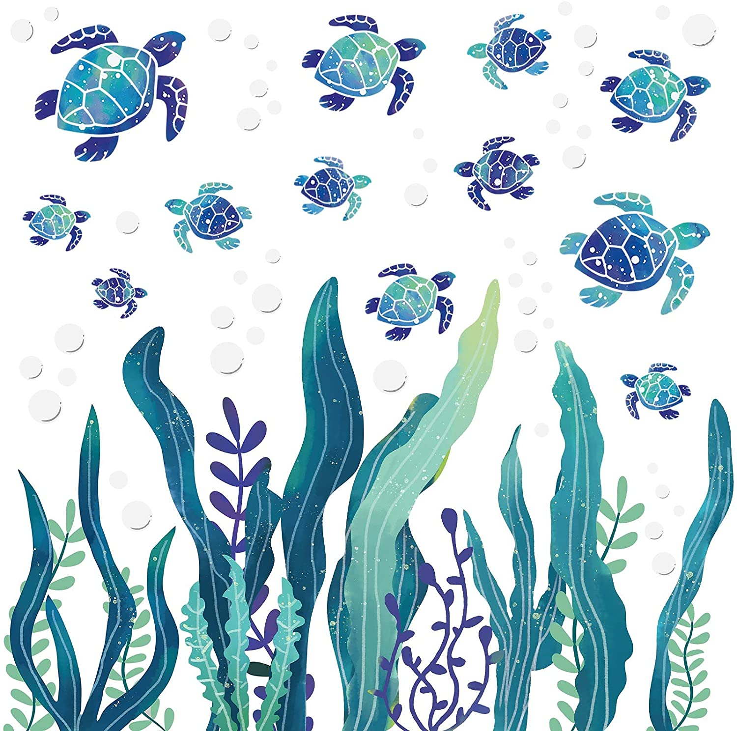 Popular popular 2 Sets Under The Sea Decals Turtle Columbus Mall Stickers Wall Ocean