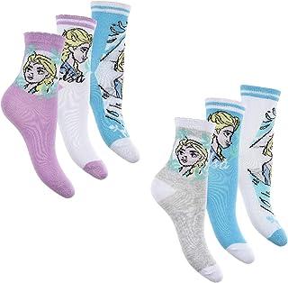 Palleon, 6 pares de calcetines infantiles de Frozen para niña
