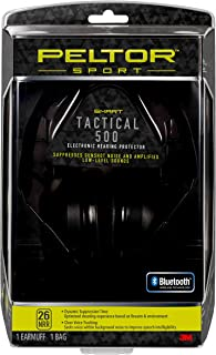 Peltor Sport Tactical 500 Smart Electronic Hearing Protector with Bluetooth Technology, NRR 26 dB, Ideal for the Range, Sh...