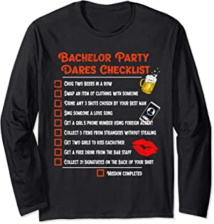 Bachelor party dares challenge checklist Long Sleeve T-Shirt