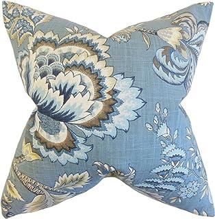 La Almohada Collection Oberon para cojín, diseño de Flores Azul, Color Azul