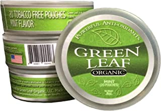 Green Leaf Organic - Mint Chew Pouches (with whitening) - 3 Pack
