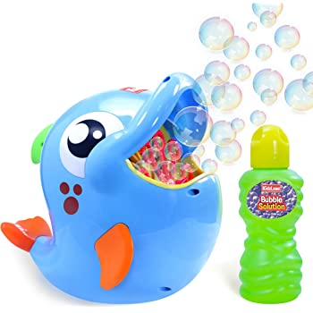 Kidzlane Bubble Machine - Bubble Machine for Toddler and Kids Outdoors - Automatic Bubble Maker 500 Bubbles per Minute - Battery Bubble Blower Machine