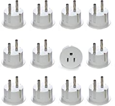 OREI American USA To European Schuko Germany Plug Adapters CE Certified Heavy Duty - 12 Pack