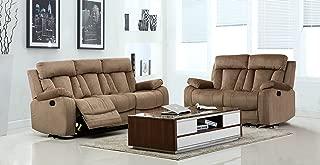 Blackjack Furniture The Elton Collection 2-Piece Reclining Living Room Sofa Set, Beige