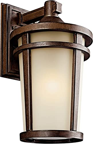 """high quality Atwood 17.75"""" 1 Light Outdoor popular Wall Light with Light Umber Mist and Brown popular Stone online sale"""