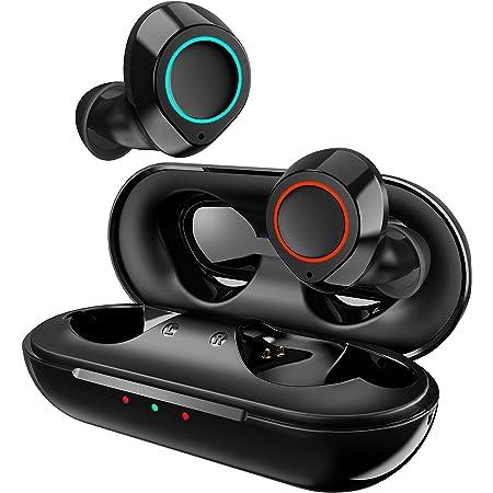 Jecoo Mini Audífonos Inalámbricos Bluetooth 5.0 Auriculares Bluetooth Deportivos Estéreo Reduce el Ruido a Pruebe de Sudor Micrófono Incorporado Soporta Manos Libres con Caja de Carga